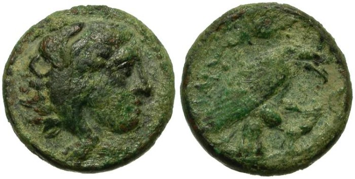 Ancient Coins - KINGDOM OF MACEDON. AMYNTHAS. AE ISSUE. RARE