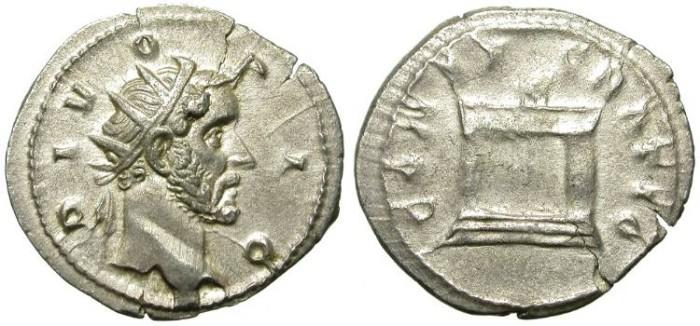 Ancient Coins - ANTONINUS PIUS. SILVER ANTONINIANUS. TRAIAN DECIUS RESTITUTION