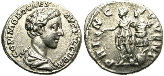 Ancient Coins - COMMODUS. SILVER DENARIUS. YOUNG PORTRAIT. VERY NICE COIN
