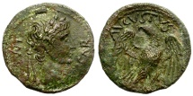 Ancient Coins - AUGUSTUS. QUADRANS. LUGDUNUM. NICE REVERSE WITH EAGLE. STILL CLEANABLE