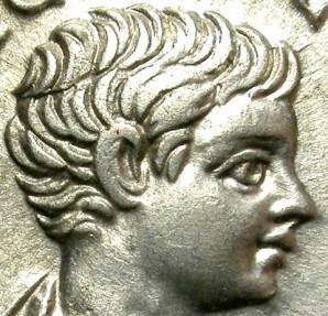 Ancient Coins - GETA. SILVER DENARIUS. NICE BUST. CASTOR.