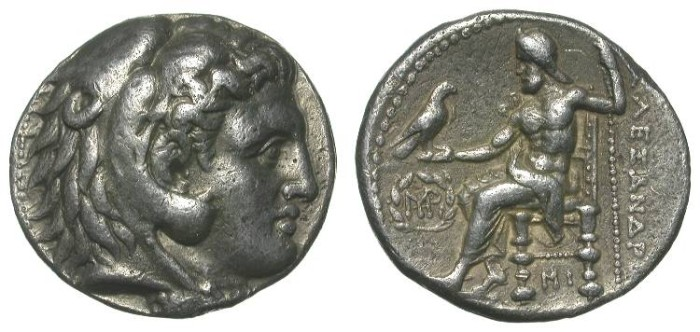Ancient Coins - ALEXANDER THE GREAT. TETRADRACHM. VF. BABYLON. A STRONG CHARACTER PROTRAIT !