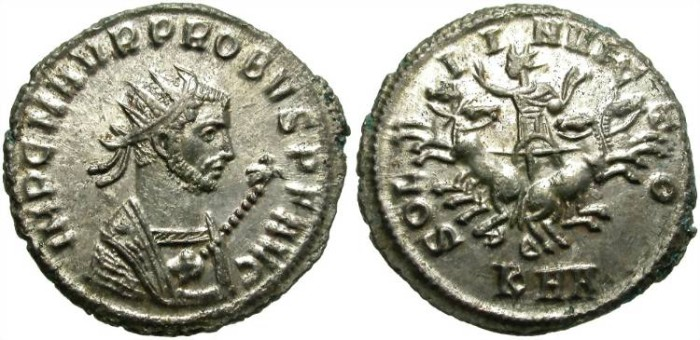 Ancient Coins - PROBUS. BILLON ANTONINIANUS. SERDICA. RIC 861 VARIANT. FULL SILVERING. VERY RARE AND ATTRACTIVE ISSUE