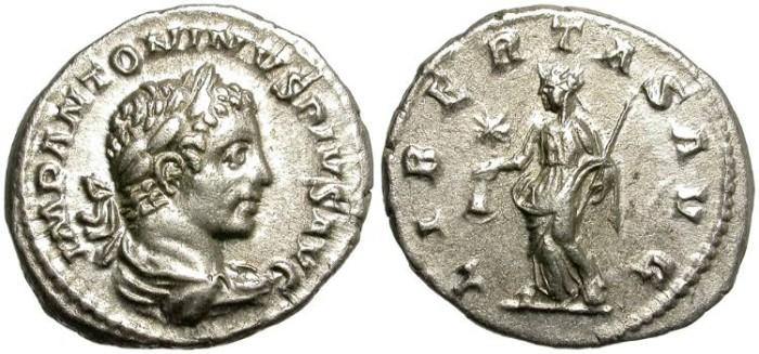 Ancient Coins - ELAGABALUS. 218 - 222  A.D. SILVER  DENAR. NICE  BUST.