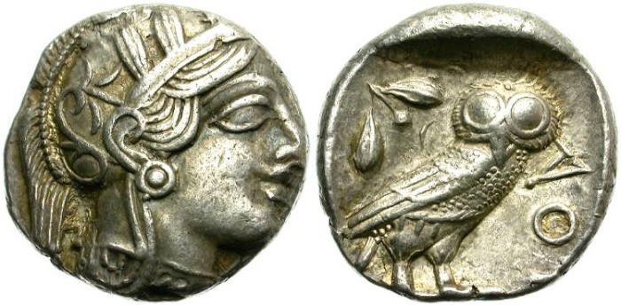 Ancient Coins - ATTICA. ATHENS. SILVER TETRADRACHM. CLASSICAL PERIOD. NICE AND GOOD CONDITION /2