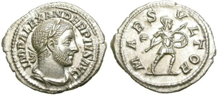 Ancient Coins - SEVERUS ALEXANDER. DENAR. FDC. SO BEAUTIFUL. PERFECT COIN!