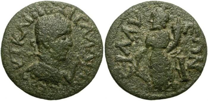 Ancient Coins - GALLIENUS. PROVINCIAL AE. SILLYON, PAMPHILIA. RARE EMISSION