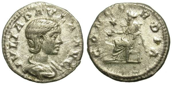 Ancient Coins - IULIA PAULA. DENAR. WELL CENTERED PORTRAIT.
