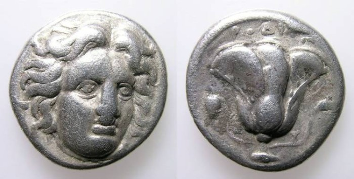 Ancient Coins - RODAS. DIDRACHM. VF. NICE CLASSICAL ISSUE AT AN AFFORDABLE PRICE !