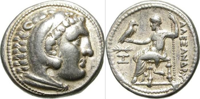 Ancient Coins - ALEXANDER THE GREAT. SILVER TETRADRACHM. PELLA MINT. NICE PIECE