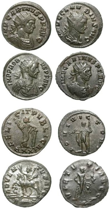 Ancient Coins - 4 DIFFERENT AE ANTONINIANI. NICE CONDITION. INTERESTING GROUP