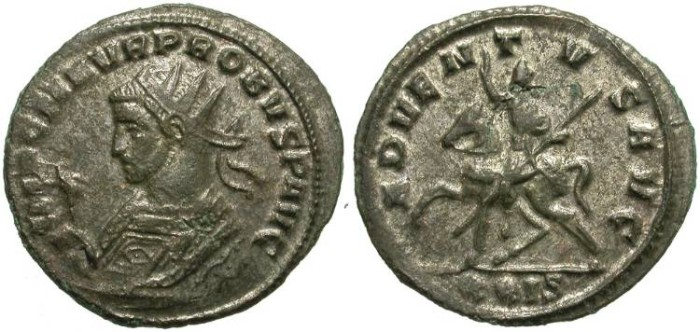 Ancient Coins - PROBUS. AE ANTONINIANUS. NICE PORTRAIT. GOOD CONDITION. ORIGINAL SILVERING