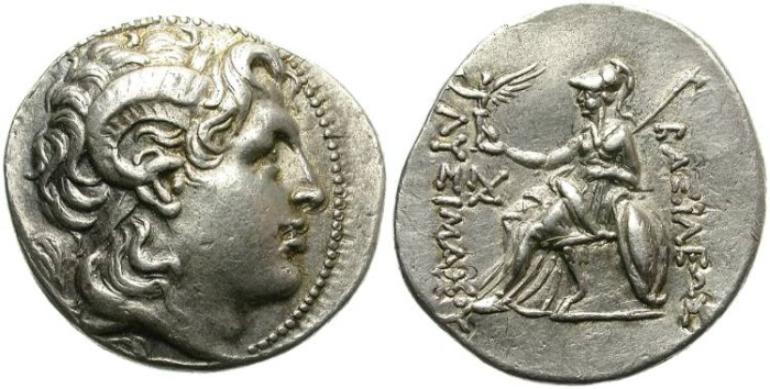 Ancient Coins - LYSIMACHOS. TETRADRACHM. ATTRACTIVE PORTRAIT. GOOD SILVER