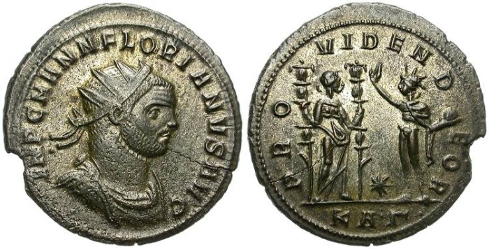 Ancient Coins - FLORIANUS. 276 AD. AE  ANTONINIANUS.  SERDICA  MINT. BEAUTIFUL PIECE.