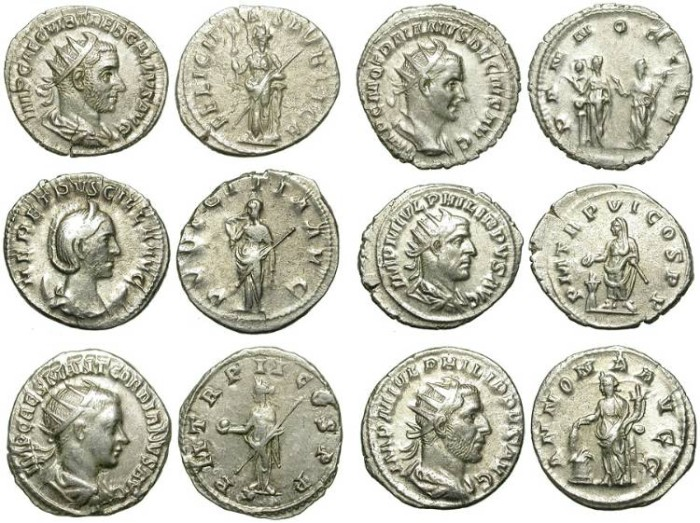 Ancient Coins - LOT OF 6 AG ANTONINIANI. VERY GOOD SILVER QUALITY. GOOD PRICE FOR ISSUES /2