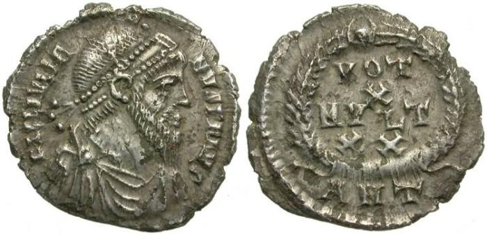 Ancient Coins - IULIAN II. SILVER SILIQUA. ANTIOCH MINT. SCARCE DENOMINATION