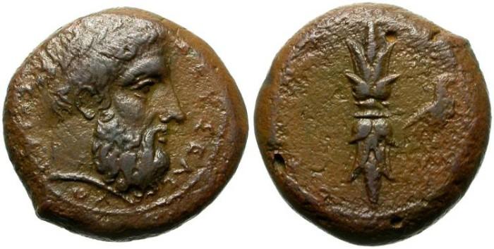 Ancient Coins - MAGNA GRECIA. BRONZE ISSUE. SIRACUSE