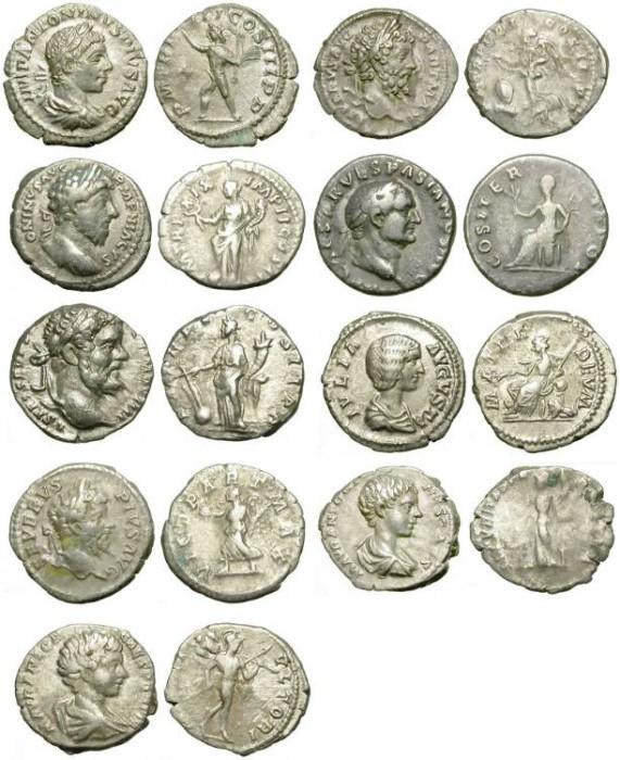 Ancient Coins - ECONOMIC LOT OF 9 ROMAN DENARS /2