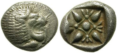 Ancient Coins - MILET, IONIA. SILVER OBOL. ATRACTIVE STRIKE. GOOD PRICE !