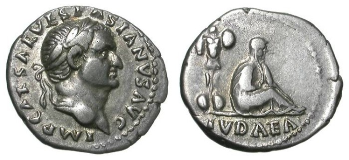 Ancient Coins - VESPASIAN. JUDEA DENAR. NICE VF. AN ALWAYS ATTRACTIVE ISSUE !