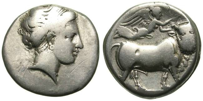 Ancient Coins - NEAPOLIS, MAGNA GRECIA. DIDRACHM. VERY AFFORDABLE AND STILL INTERESTING