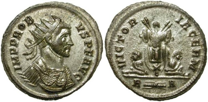Ancient Coins - PROBUS. AE ANTONINIANUS. ALMOST FULL SILVERING.
