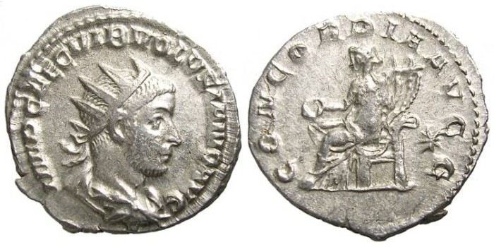 Ancient Coins - VOLUSIAN  ANTONINIANUS.  SCARCE.