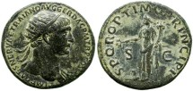 Ancient Coins - TRAJAN. 98-117 A.D. DUPONDIUS. GOOD QUALITY.