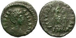 Ancient Coins - AELIA FLACILLA. AE FRACTION. NICOMEDIA MINT. ATTRACTIVE AND SCARCE.