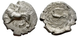 Ancient Coins - SIKYON. SILVER DRACHM. ATTRACTIVE STRIKE. SCARCE 335-330 BC