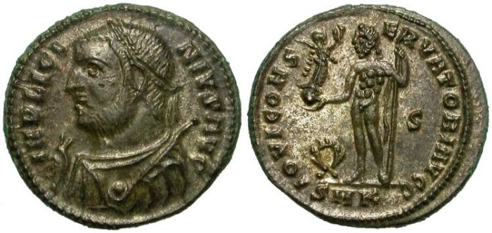 Ancient Coins - LICINIUS  I. AE  FOLLIS. CYZICUS  MINT.  FANTASTIC  REVERSE.