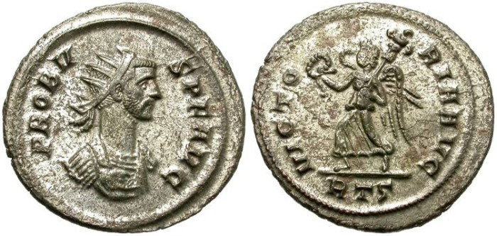 Ancient Coins - PROBUS. BILLON ANTONINIANUS. EQUITY FOR ROME MINT. INTERESTING SMALL BUST PORTRAIT
