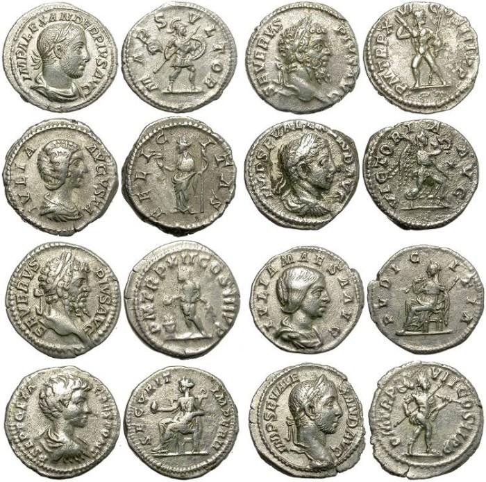 Ancient Coins - LOT  OF  8  SILVER  DENARIUS.  ATTRACTIVE  GROUP./5