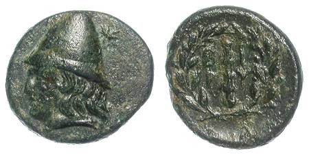 Ancient Coins - BIRITIS. AE GREEK. A EF. BEAUTIFUL COIN WITH AN APPEALING PATINA !