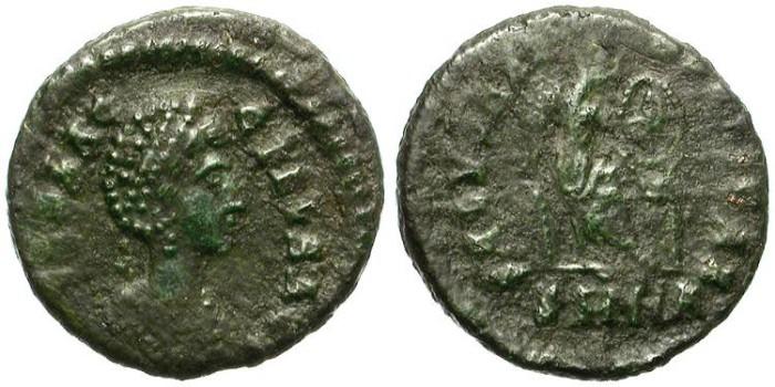 Ancient Coins - AELIA FLACILLA. AE FRACTION. NICOMEDIA MINT. ATTRACTIVE AND SCARCE.