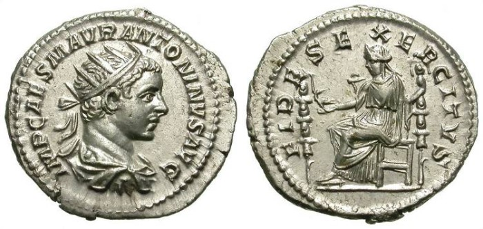 Ancient Coins - ELAGABAL. AG ANTONINIAN. SO BEAUTIFUL STRIKE