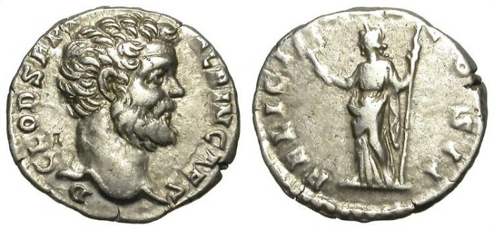 Ancient Coins - CLODIUS ALBINUS. DENAR. BEST MATERIAL AND GREAT PORTRAIT