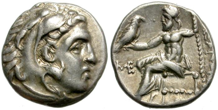 Ancient Coins - ALEXANDER THE GREAT. SILVER DRACHM. NICE CONDITION. NICE PORTRAIT.