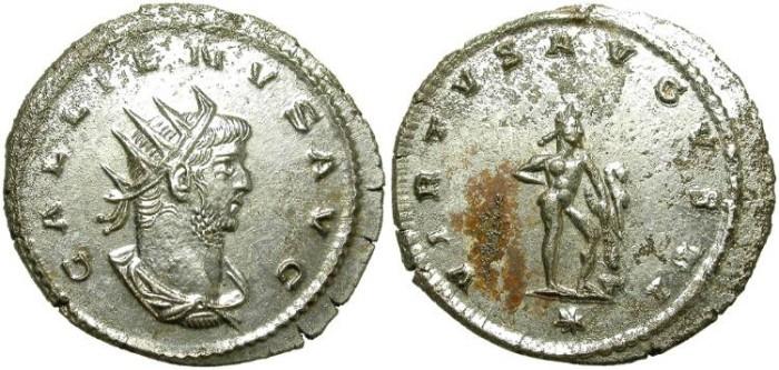 Ancient Coins - GALLIENUS. ANTONINIANUS. 253-268 A.D. FULL SILVERING.