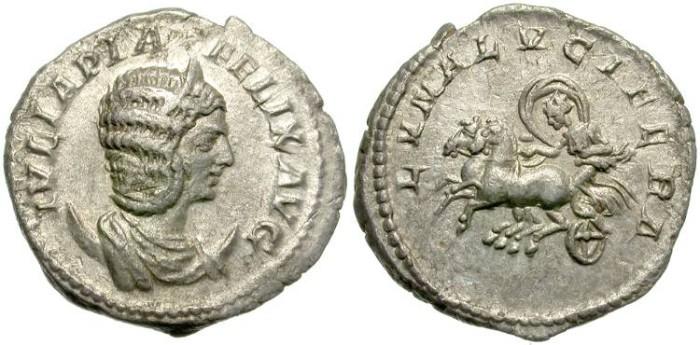Ancient Coins - IULIA  DOMNA.  SILVER  ANTONINIANUS.  SCARCE  REVERSE.  NICE.