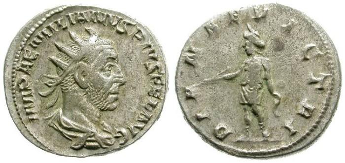 Ancient Coins - AEMILIAN. ANTONINIAN. DIANA ON REVERSE. DIFFICULT EMPEROR