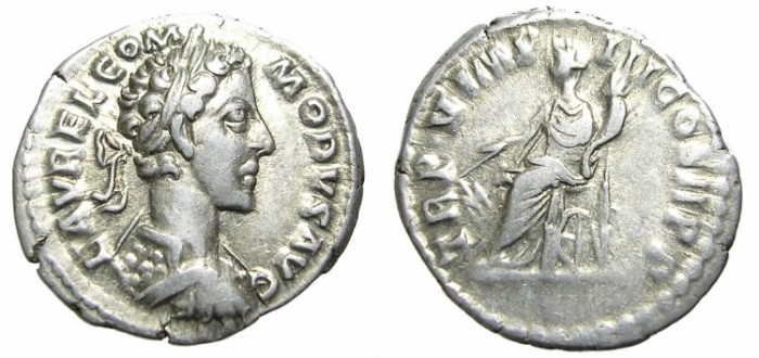 Ancient Coins - COMMODUS  DENARIUS.  YOUNG  BUST. SCARCE.
