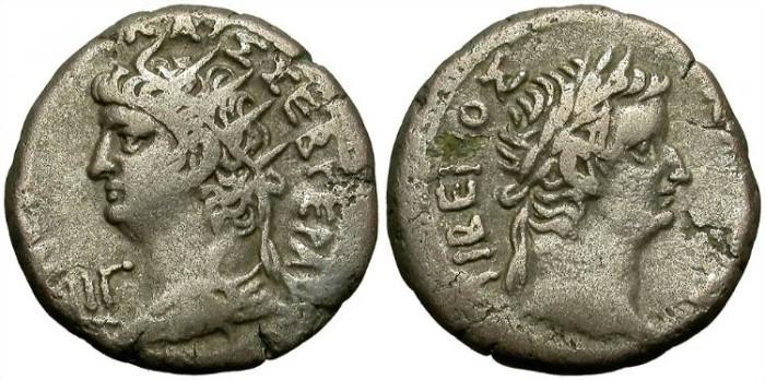 Ancient Coins - NERO & TIBERIUS. TETRADRACHM. ALEXANDRIA. NICE & AFFORDABLE.