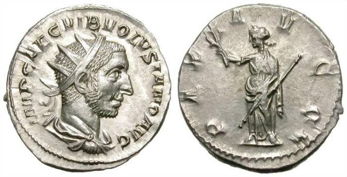Ancient Coins - VOLUSIAN. ANTONINIAN. ANTIOCHIA (?). FANTASTIC PORTRAIT !