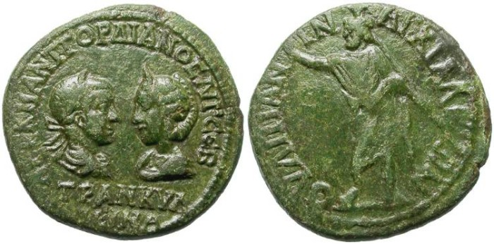 Ancient Coins - TRANQUILLINA. AE COLONIAL. GREAT QUALITY.