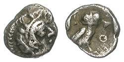 Ancient Coins - ATHENS. HEMIOBOL. RARE ATHENIAN FRACTION !