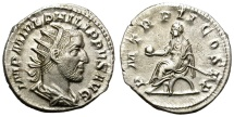 Ancient Coins - PHILIP I. AD 244-249. SILVER ANTONINIANUS. ROME. VERY ATTRACTIVE.