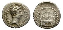 Ancient Coins - AUGUSTUS. SILVER DENARIUS. RARE TYPE. P. CARISIUS LEG. NICE PORTRAIT