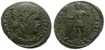 Ancient Coins - MAGNENTIUS. AE CENTENIONAL. LUGDUNUM MINT. INTERESTING PORTRAITURE