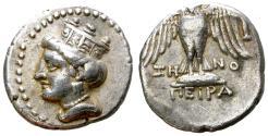 Ancient Coins - AMISOS, SIGLO 435-370 B.C. PONTUS NICE DRACHM WITH PERSIC STANDARD